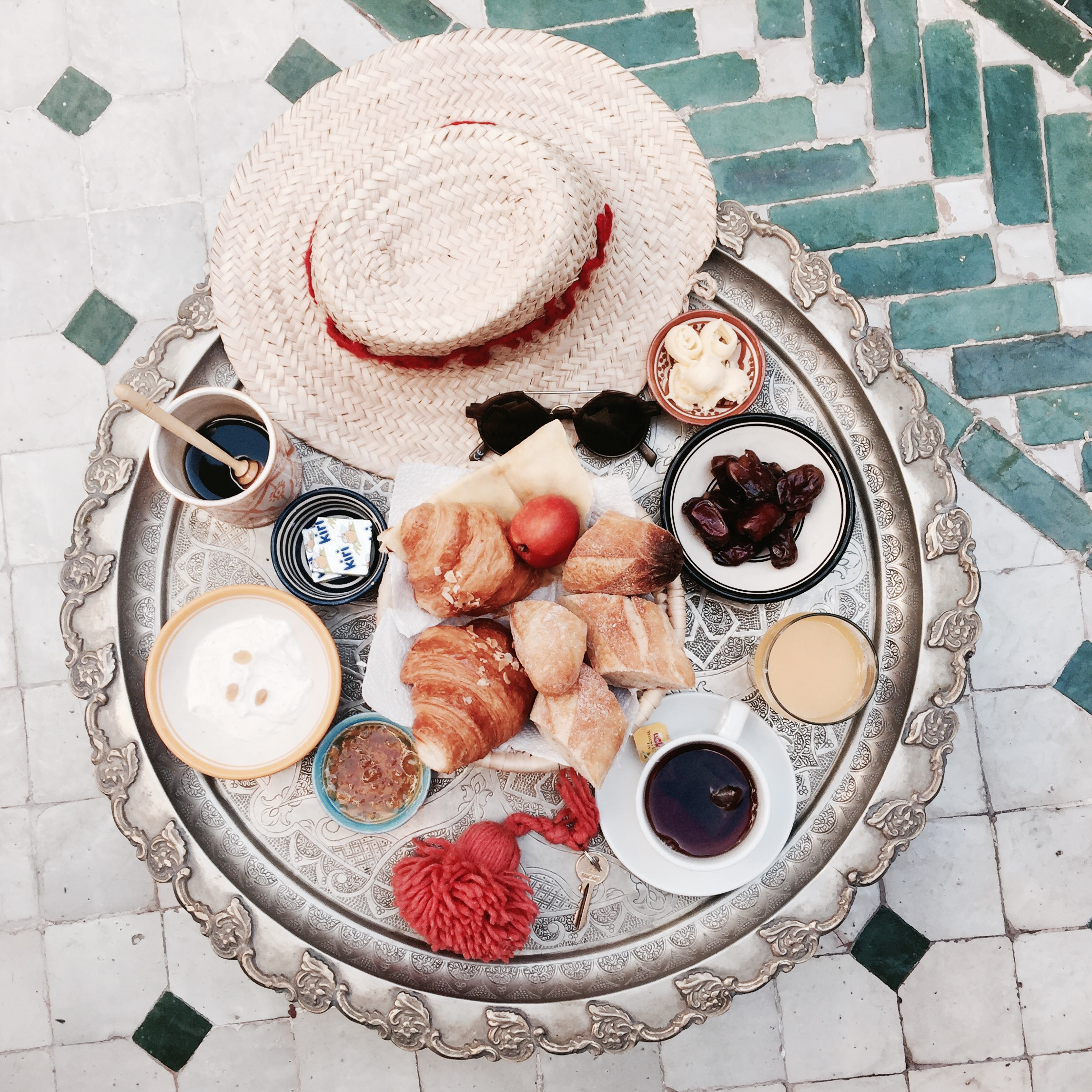 Marrakech Breakfast Le riad yasmine hotel marrakech