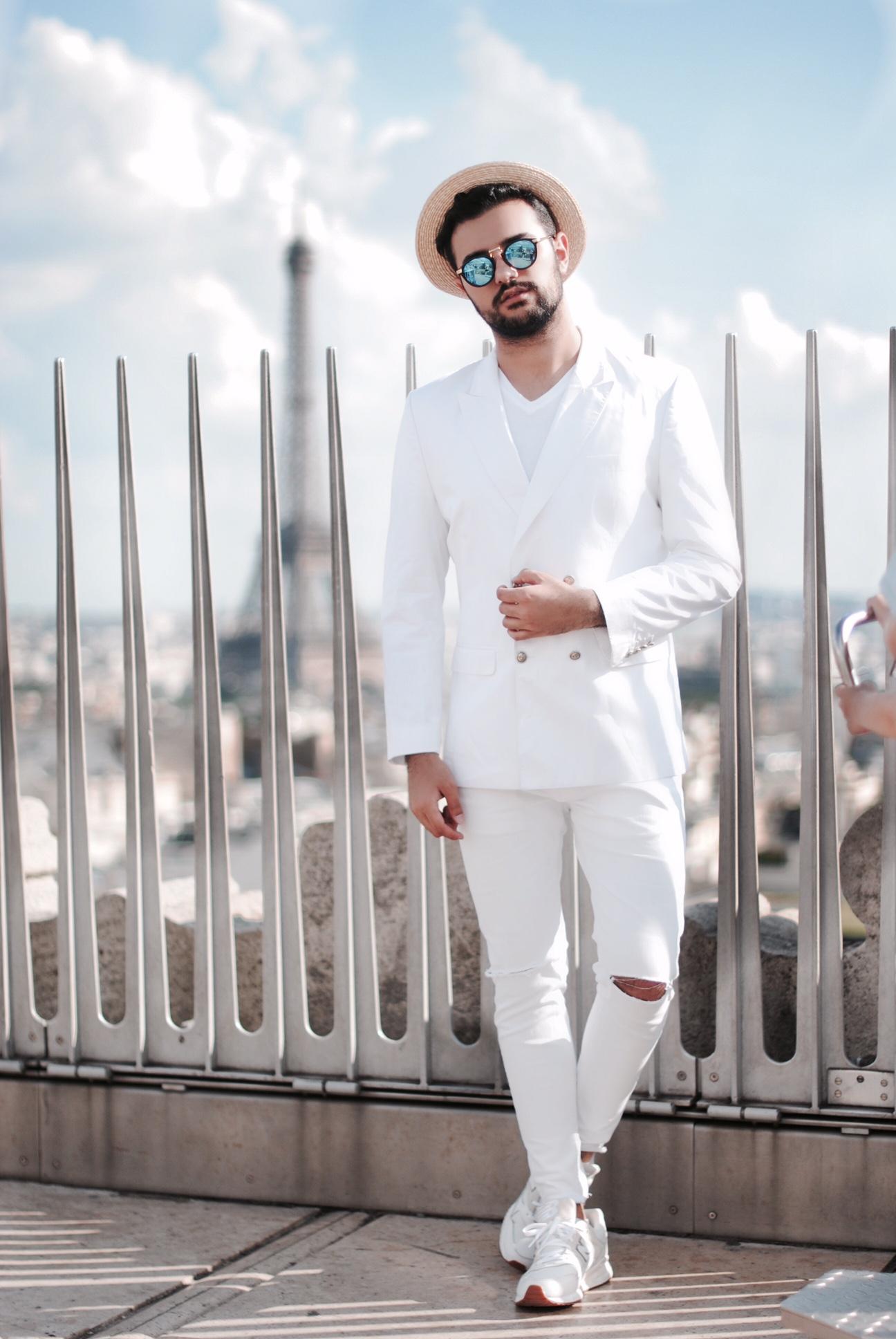 Paris White Outfit Kubilay Sakarya