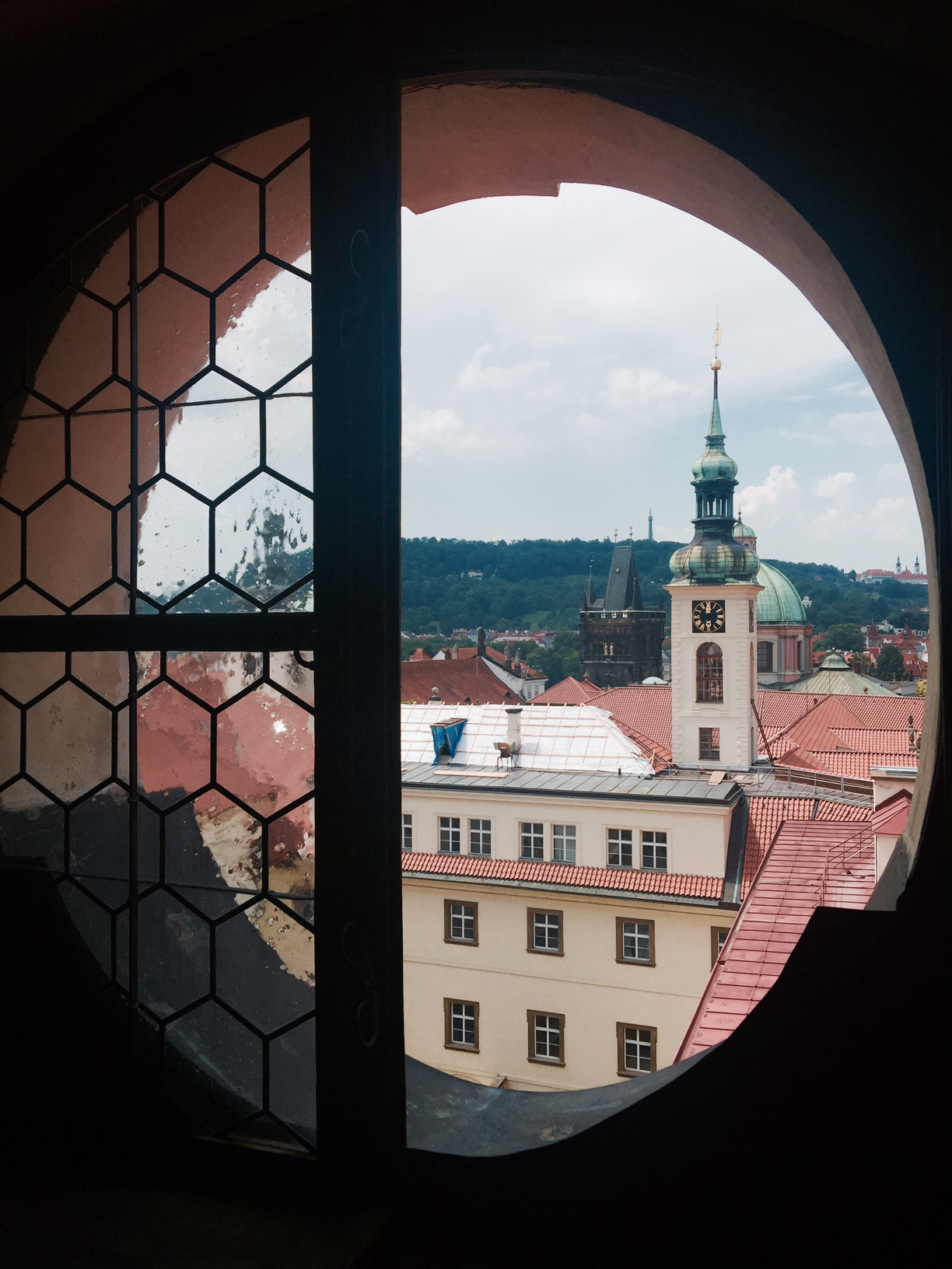 Prague City View Window