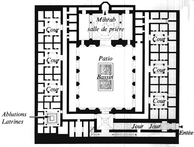 Ben Youssef Madrasa Architecture Plan