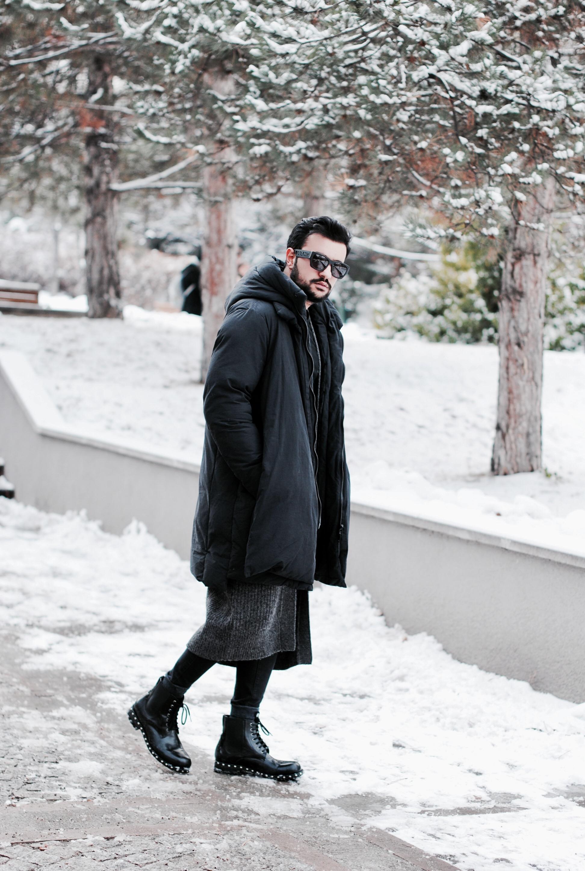 Kubilay Sakarya All black men outfit