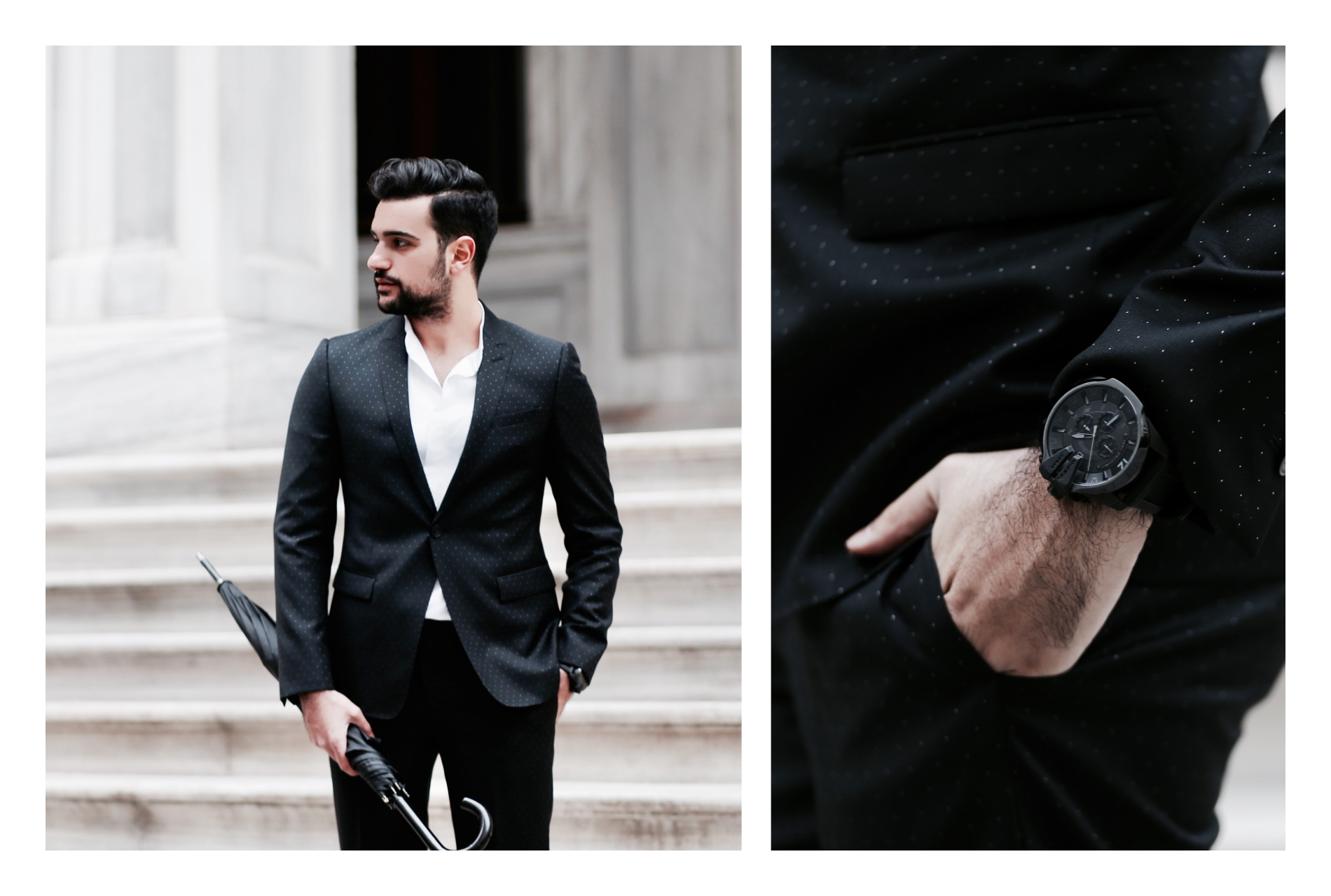 kubilay sakarya look book black suit