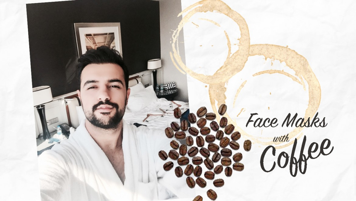 Face masks with coffee DIY